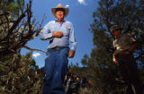 (PRICE, Utah, SHOT 6/30/2004) Waldo Wilcox, 74, the one-time owner of the Wilcox Ranch, leads Utah...