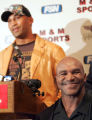 "NYMA105 - Former world heavyweight champion Evander ""The Real Deal"" Holyfield, right, ..."