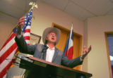 United States Senator Ken Salazar speaks to the local Denver media on issues related to Electronic...