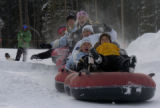 Heading over a jump on the Tubing Hill at Copper Mountain Resort's East Village Tuesday, December...