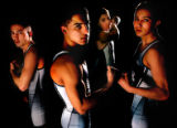 Members of the Arrupe Jesuit Class 2A wrestling team left to right Jonathan Candelaria (cq), 16,...
