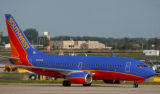 FILE PHOTO: A Southwest Airlines jet taxis on the tarmac at Philadelphia International Airport May...