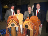 Coors Western Art Exhibit & Sale 2006. From left, couples Kevin and Nancy Jordan and Leslie...