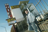 Denver, CO Jan. 13, 2006 Jesse Morreale, owner of La Rumba and Mezcal, stands outsided the All Inn...