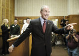 Denver, CO Jan. 17, 2006 Congressman Bob Beauprez acknowledges supporters after announcing his...