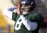 John Dutton returns as quarterback as the Colorado Crush hold their first practice of the season...