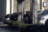 Denver Police recruits  search near the alley of the 1400 block of Pennsylvania Street Tuesday...