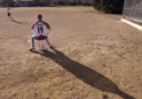 Jessica Wright practices pitching with her father Chris Wright this afternoon, Friday, January 6,...