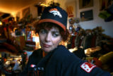 Sue Feldman (cq), 47, of Denver won the 2003 Visa Hall of Fans contest and was presented with an...