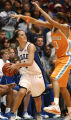NCSD112 - Duke's Abby Waner (4) is pressured by Tennessee's Candace Parker (3) in the second half...