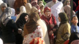 Colorado Muslims celebrate after morning  prayers at the Masjid Abu Bakr at 2071 S. Parker Road on...