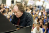Colo. Symphony conductor Jeffrey Kahane performs Tuesday afternoon January 10, 2006 at Barnum...