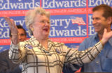 "(DENVER, Colo., July 8, 2004) Patsy Starks,75, acknowledges the crowd after she says ""George..."