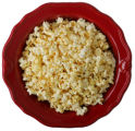 Super bowls filled with snacks for Superbowl Sunday.  Food shoot.  Popcorn.  The Lark.  (ELLEN...