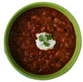 Super bowls filled with snacks for Superbowl Sunday.  Food shoot.   Chili.  Bowl from Cook's...