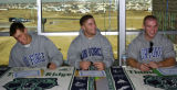 Thunder Ridge High School football players Eric Moats (cq), Kyle Black (cq), and Nick Lind (cq),...