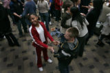 At the Cherry Creek Mall students from Dora Moore K-8 School participated in a behavioral...