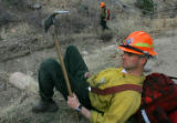 Matt Moomaw (cq), 28, from Buena Vista, Colo., a member of the Juniper Valley division of the...