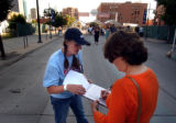 (DENVER, CO., SHOT July 9, 2004)  Volunteers from the New Voter Project canvassed the streets at...