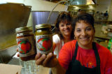 (DENVER, COLO., JULY 9, 2004)     Jeanette Martinez, left, and Juanita Ramirez, right, owners of...
