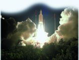 Arianespace's Ariane 5 rocket lifts off from its pad in French Guiana earlier this month carrying...