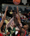 Colorado State forward Jason Smith,left, looks to pass the ball being defend by San Diego State's...