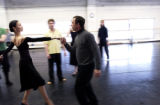 Colorado Ballet Company's new artistic director Gil Boggs, cq, works with dancer Aygul...