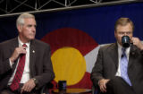 CPD :  Colo., July 12,  2004)    Pete Coors, left,  and Bob Schaffer, the two Republican Senate...