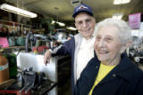 Dorothy and Harold Rosenblatt (cq) stand in their Denver Business, a used tools store, at 2227...
