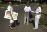 (DENVER, Colo., July 12, 2004) Jenny Anderson, Beth McCann and Rosemary Marshall debate direction...