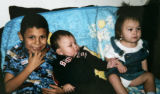 In this family photo are the children of Joelene Mix (cq family) 30 - Carlos Mondragon, 7, (cq...