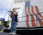 (NYT42) PHOENIX, Ariz. -- March 13, 2006 -- NATIONAL-ANTHEM-2 -- Dean Nunley, only 3,  of Phoenix,...