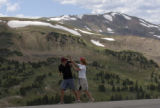 (Loveland Pass, Colo., July 12, 2004) Devon Sigler, 17, left, and his sister Lexie Sigler, 15,...
