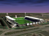 The new open-air stadium, which is being designed by HOK Sport+Venue+Event, will include a partial...