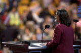 07/27/2004 Boston-U.S. congresswoman Diana DeGette takes the stage to speak about stem cell...