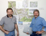 Sopris Surfers founders Dale Ahrens, left, and president Paul Huttenhower, right, started the...