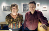 Trina Purcell (cq) and Thomas Carr (cq) are the curators of a Mesa Verde exhibit being displayed...