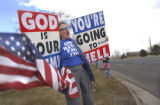 LT. TO RT.) Shirley Phelps-Roper (CQ), of Kansas, daughter of Westboro Baptist Church's Rev. Fred...