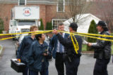 (NYT31) GREENWICH, Conn. -- April 3, 2006 -- CT-KISSEL-DEATH-3  -- Police investigators outside...
