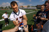 (DOVE VALLEY, Co., SHOT 7/28/2004) The Denver Broncos opened training camp for the 2004 Season...
