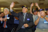 (7/28/2004, Denver, CO)  Veterans for Kerry addressed the Democratic Convention in Boston via...