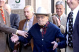 Jack A. Weil, founder of Rockmount Ranchwear and the oldest CEO in America is surprised to see the...