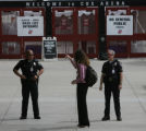 JPM180  California State University police officers direct San Diego State University student...
