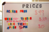 Like the rest of the mountain in its first season, the pricing board at Echo Mountain Park is a...