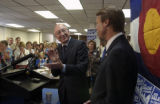 (DENVER, Colo., May 10, 2004)   Attorney General  Ken Salazar applauds former Democratic...