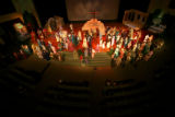"The Easter Season production of ""In A Heartbeat"" at the Faith Bible Chapel has a cast of..."