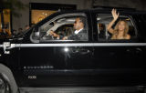 Beyonce arrives in a customized MTV VMA Chevrolet E85 SUV at the 2006 MTV Video Music Awards held...