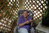 Gail Bertram sits in a chair at her home Wednesday afternoon September 6, 2006 in Mancos. Bertram...