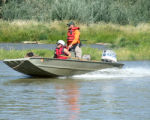 Tuesday September 5, 2006 members of the Mesa County Search & Rescue team patrol the waters of...