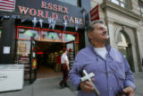 9/11 story.   Restaurant owner Jimmy Costalas (cq), shows a cross given made by a piece of steel...